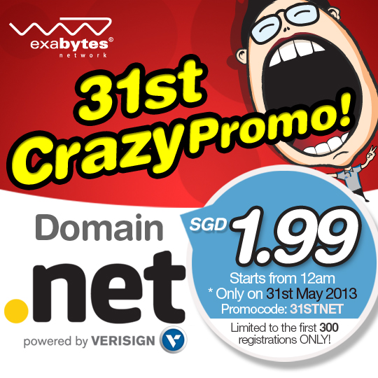 NET Domain Promo Sale
