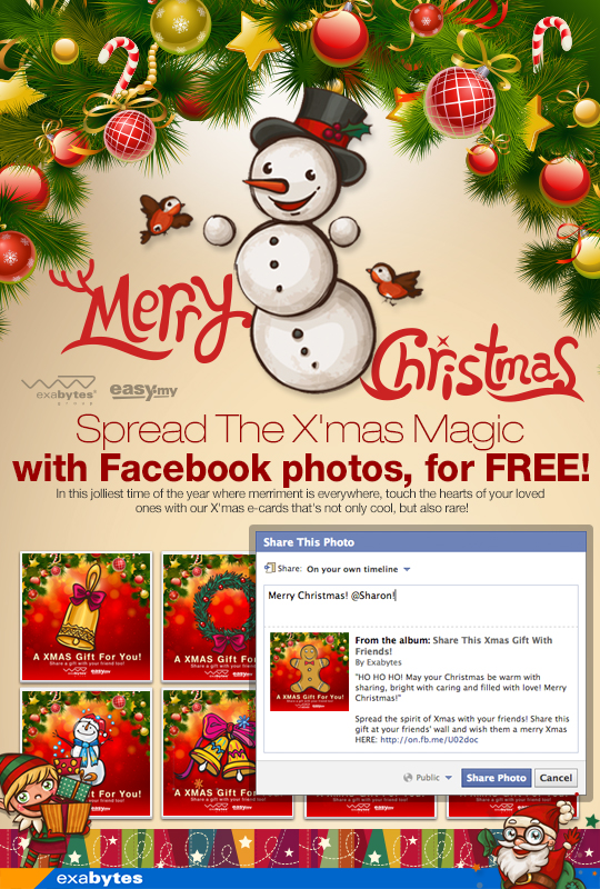 spread the X'mas magic with Facebook photos - Exabytes