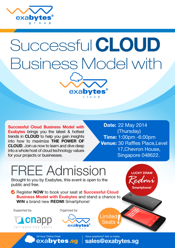 succesful cloud business model with Exabytes Cloud poster