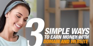 3 simple way to earn money with domain and website