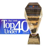 The Prestige Malaysia Top 40 Under 40 2014 trophy